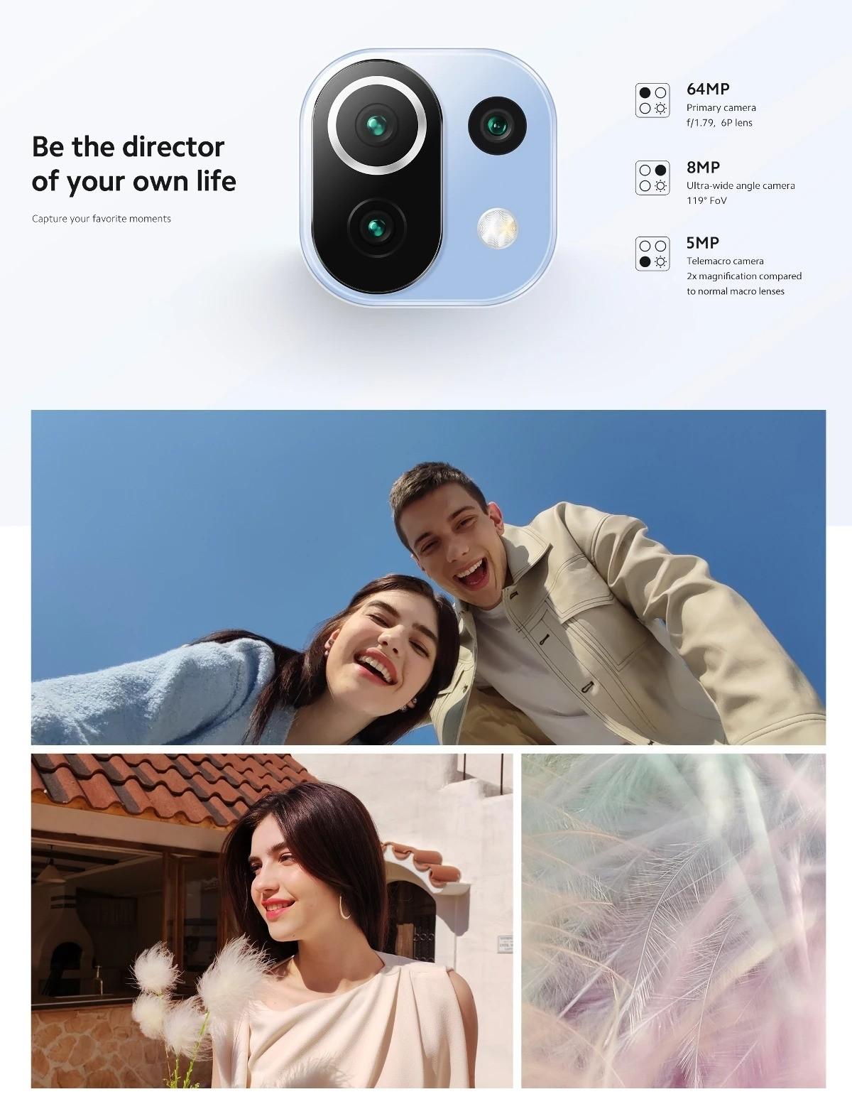 Xiaomi Mi 11 Lite Snapdragon 732G Smartphone 6GB+64GB - EU Version
