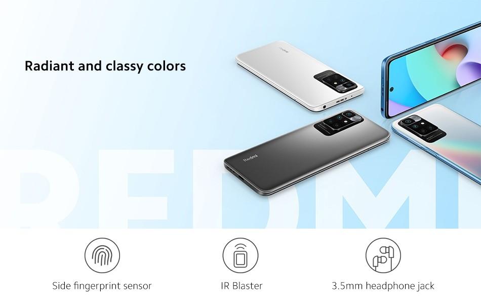 Xiaomi Redmi 10 4GB+128GB NFC EU Version Smartphone - 50MP AI Quad Kamera MediaTek Helio G88 Octa Core 90Hz FHD Display 5000mAh Akku