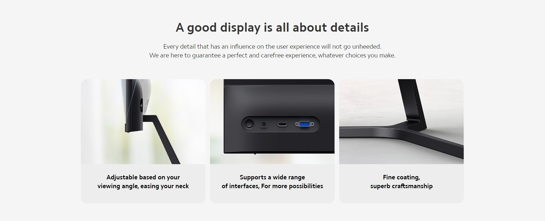 Xiaomi Desktop-PC-Monitor 1C Xiaomi 23,8'' Desktop-Monitor 1C 1080P Full HD Display Bildschirm Low Blue Light