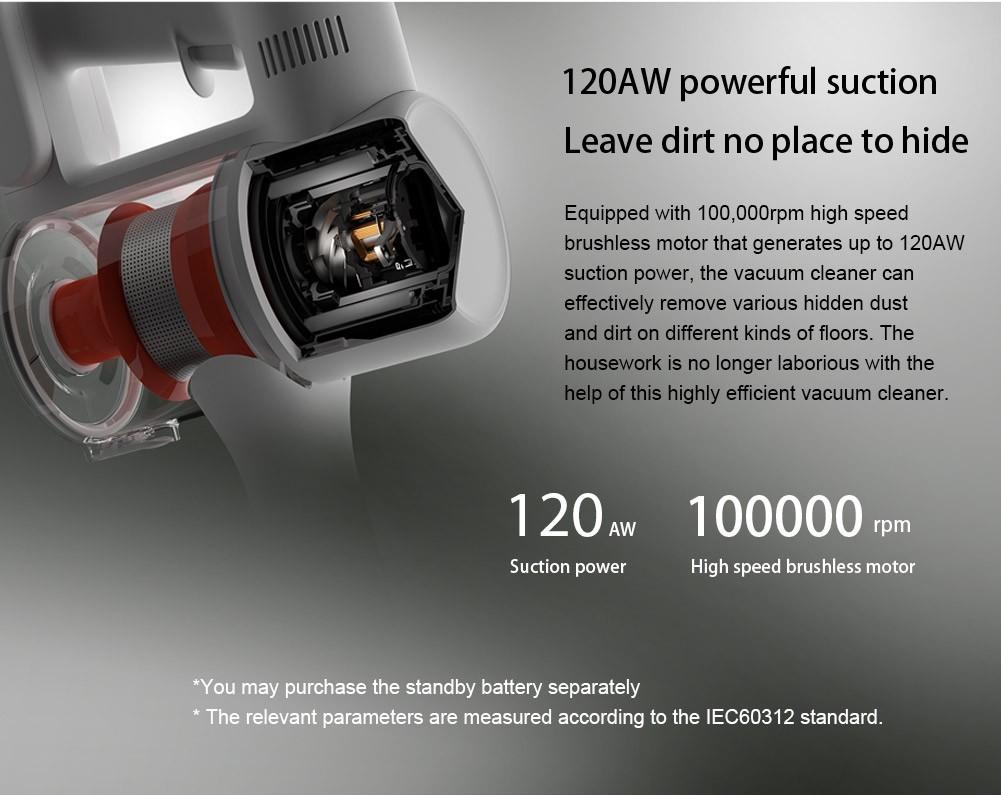 Najnowsze Xiaomi MI Odkurzacz G9 Smart Home 120aw Handheld Cordless Dust Collector Mijia Ground Dywan Sweep Machine