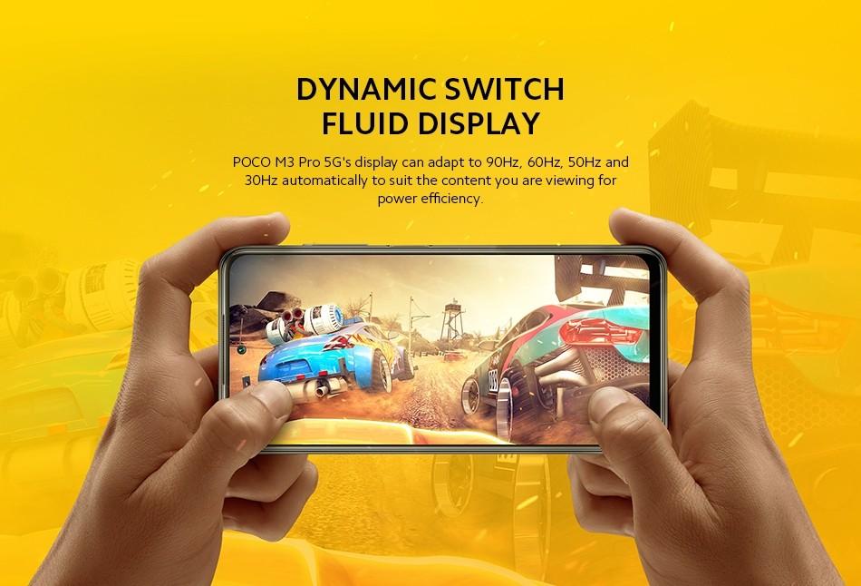POCO M3 Pro Smartphone Dual 5G - 6GB RAM 128GB ROM - EU Version  MediaTek Dimensity 700, 6,5 Zoll 90 Hz FHD+ DotDisplay Bildschirm, Akku 5000 mAh (Typ), 48 MP AI Triple Kamera
