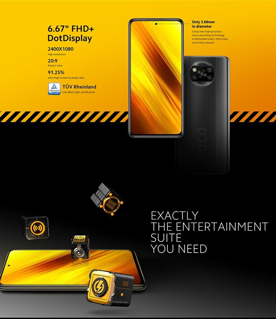 Poco X3 NFC Snapdragon 732G 5160 mAh 33 W 6 GB RAM 64 GB ROM Xiaomi versione globale