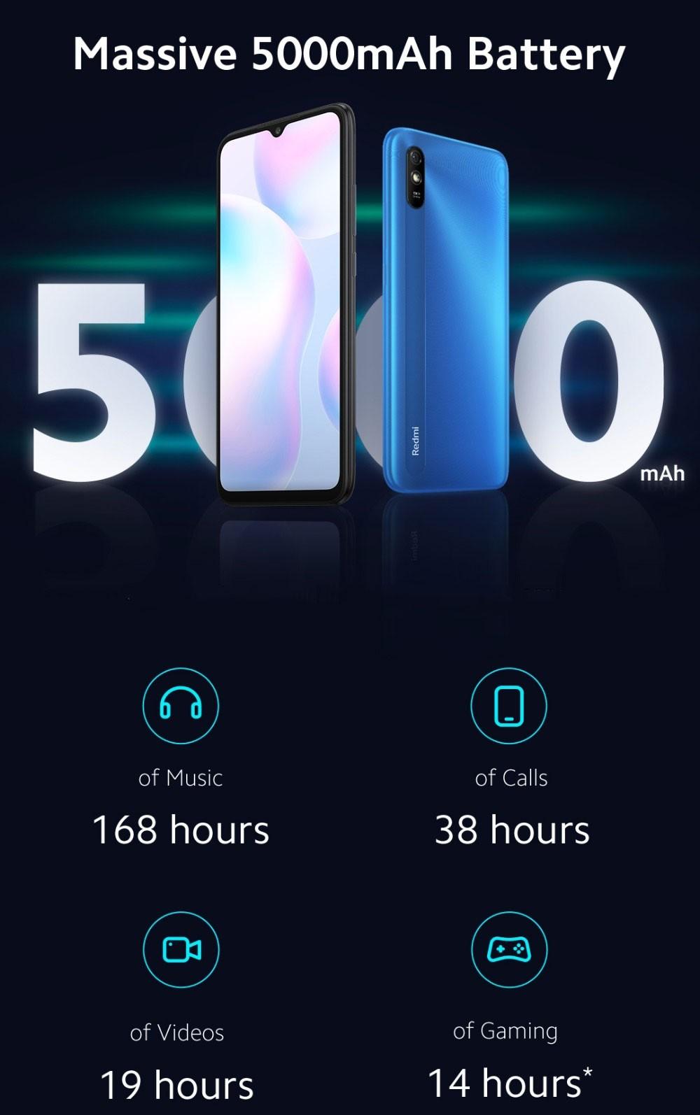 Xiaomi Redmi 9A Smartphone 2GB RAM 32GB ROM EU-Stecker Globale Version - Redmi - Edwaybuy.com